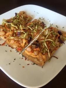 Cajun Shrimp & Hummus Flat-outs