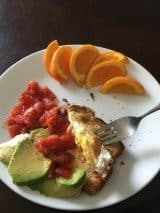 Egg-in-the-Hole with Avocado and Tomatoes