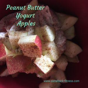 Peanut Butter Yogurt Apples
